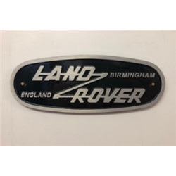 Cast aluminium Land Rover Birmingham badge