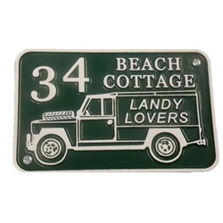 Cast Aluminium Land Rover House Plate