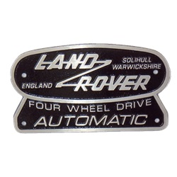 Cast aluminium Automatic badge