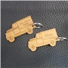 Wooden Land Rover Key ring (personalised)