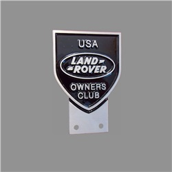 Cast aluminium/Cast bronze USA Land Rover owners Grille Badge