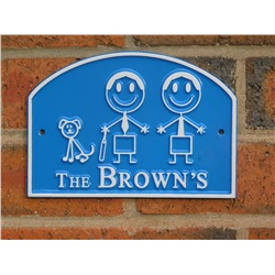 Personalised Family House Plaque (7x5 inches)