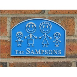 Personalised Family House Plaque 9 x 6 inches