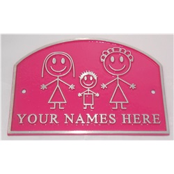 "Special Edition Pink Personalised House Plate (7.5""x5"")"