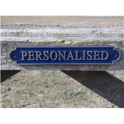 Personalised Gate Sign - Bronze