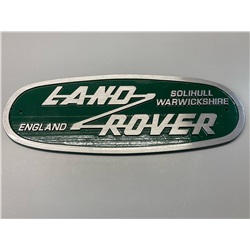 Land Rover Large Wall Plaque