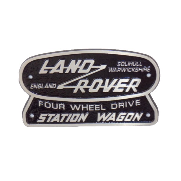 Cast Aluminium Station Wagon Badge