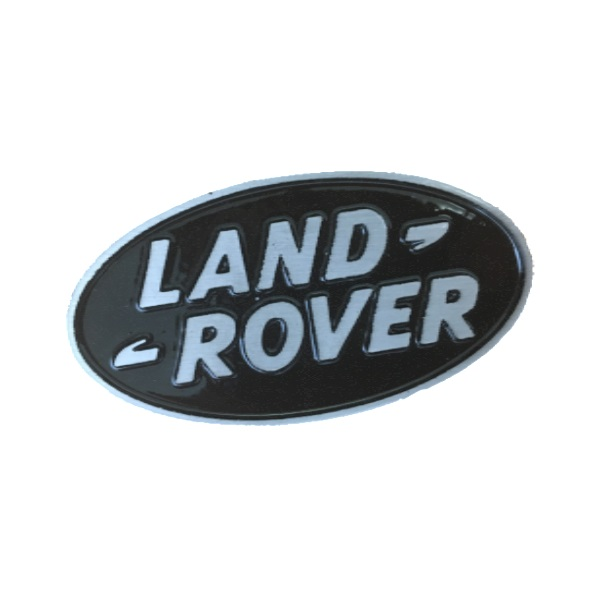 Small Cast Aluminium Land Rover Oval