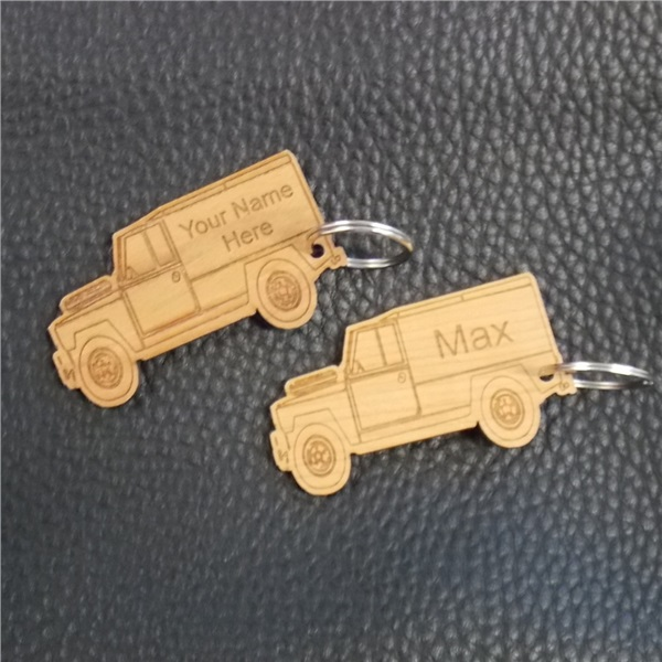 Wooden personalised key ring