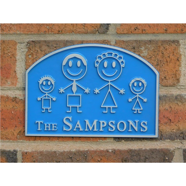 Family House Plaque - Create Your Own