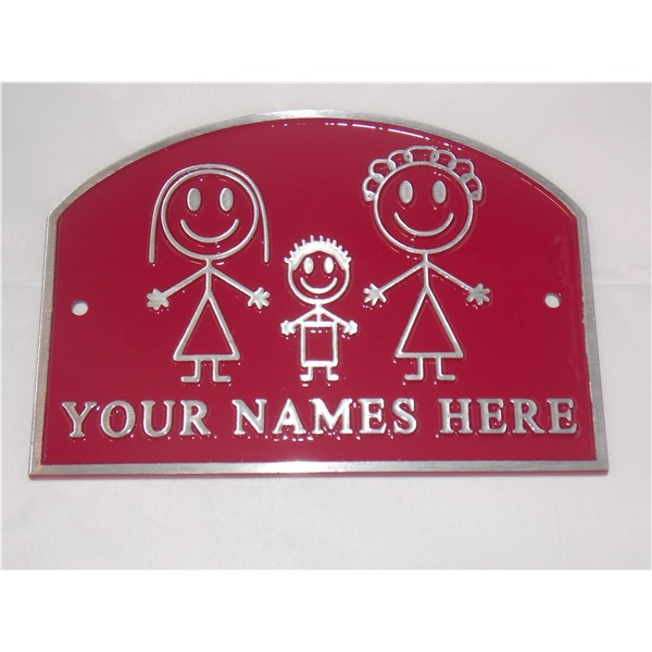 Personalised House Plaque - Burgundy