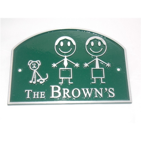 Personalised House Plaque - Green