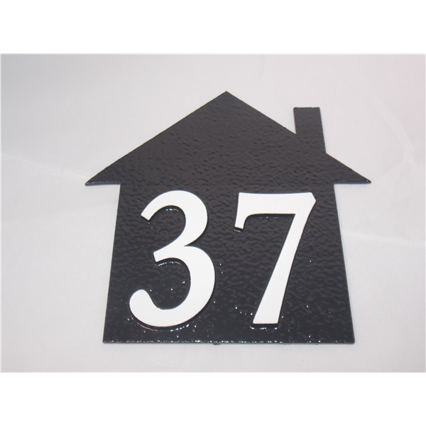 House Shaped House Number Plaque