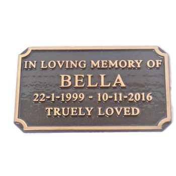 Personalised Cast Bronze Pet Memorial